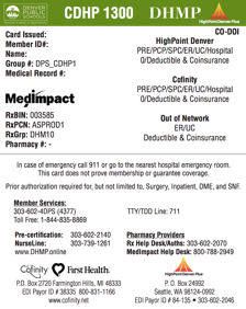 Commercial/Large Group ID Cards | Denver Health Medical Plan