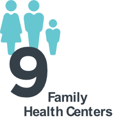a family icon; the Denver Health Network includes 9 family health centers