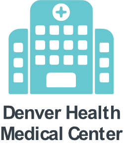 a hospital icon; the Denver Health Network includes Denver Health Medical Center