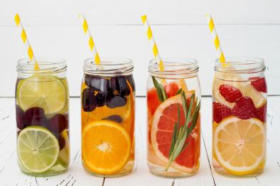 Flavored water drinks