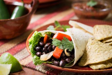 Black Bean and Avocado Burrito With Pineapple Salsa