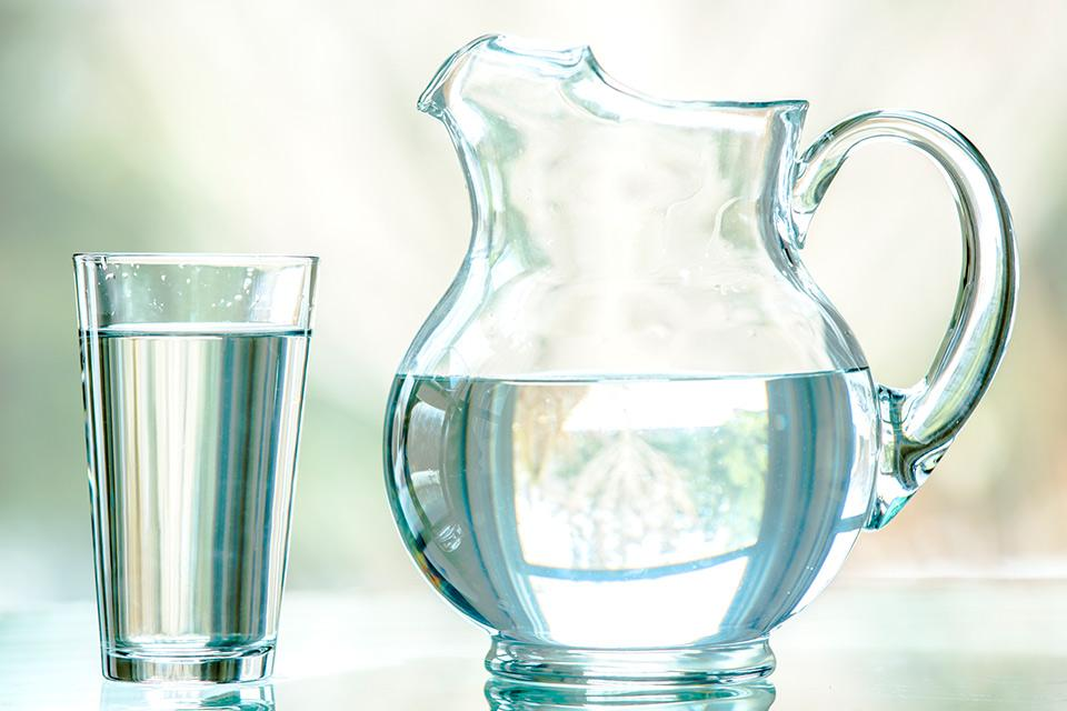 Water glass and pitcher